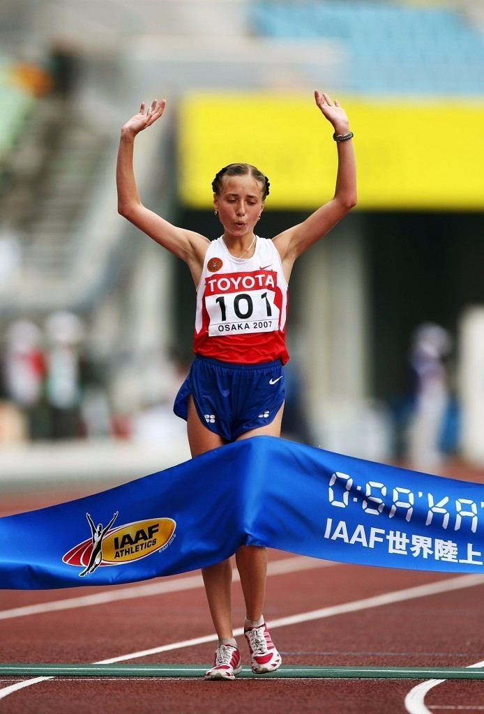 Olga Kaniskina is one of five race walkers facing the outcome of their appeal at the Court of Arbitration for Sport in February after failing drugs tests ©Getty Images