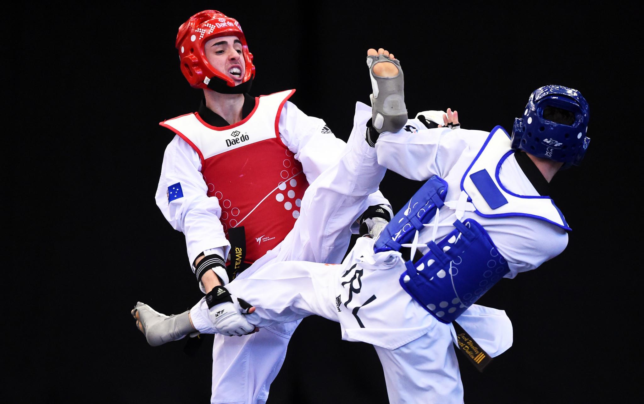 Bailey Lewis was part of Australian Taekwondo's scheme to inspire children ©Getty Images