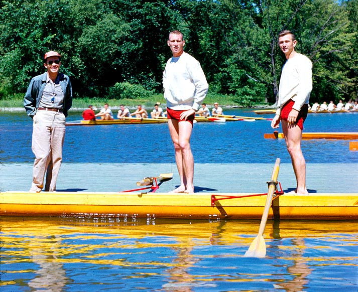 Rowers James Beggs, Duvall Hecht and James Fifer lost in the second repechage at the 1952 Olympics in Helsinki ©Wikipedia/Awtruong