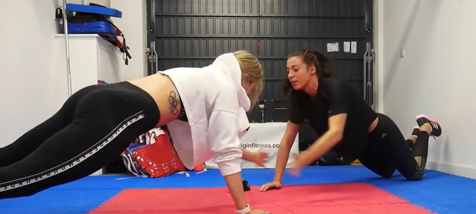 Jade Jones (left) has continued her preparations for Tokyo 2020 during the coronavirus lockdown alongside her teammate Bianca Walkden, with whom she currently shares a flat ©Instagram