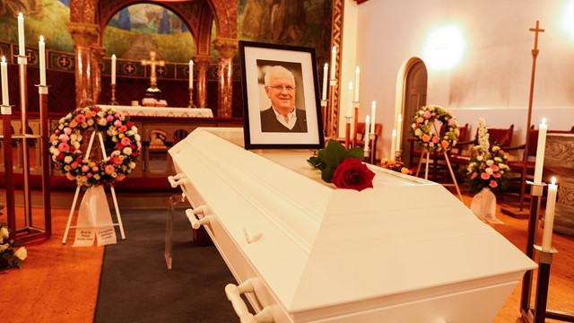 Funeral and commemorative event held in honour of former European Athletics President Hansen
