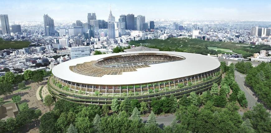 A new design for the Tokyo 2020 Olympic Stadium has been chosen by the Japanese Government ©Japan Sport Council
