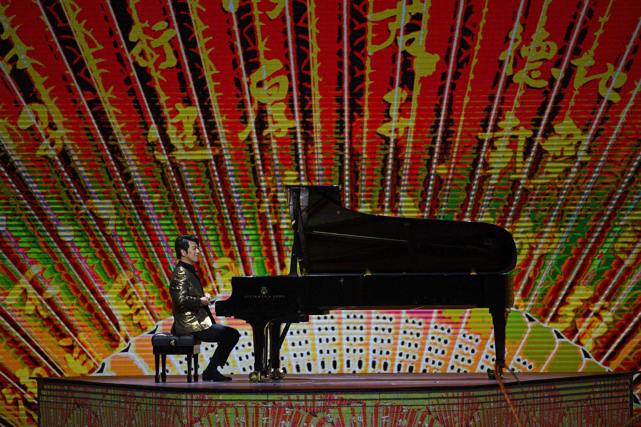 Lang Lang performing at the Basketball World Cup Opening Ceremony last year ©Getty Images