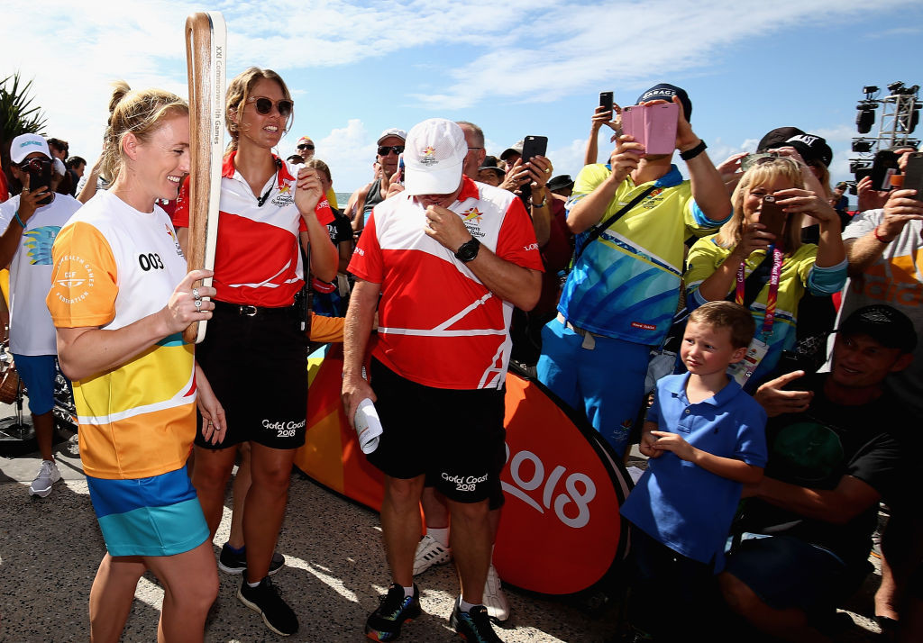 The Queen's Baton Relay for Gold Coast 2018 took place over a year ©Getty Images