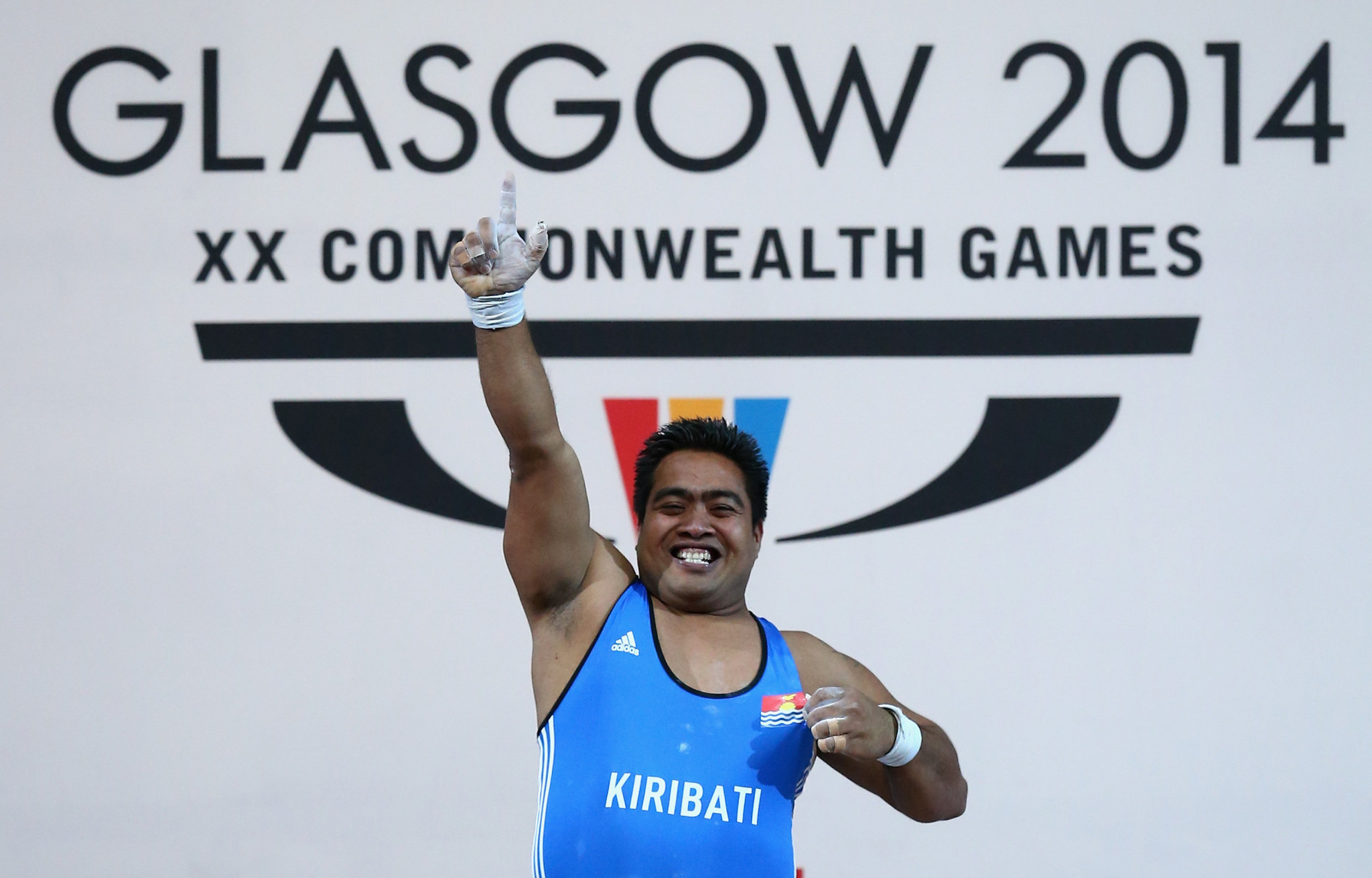 Weightlifter David Katoatau became Kiribati's first Commonwealth champion in 2014 ©Getty Images