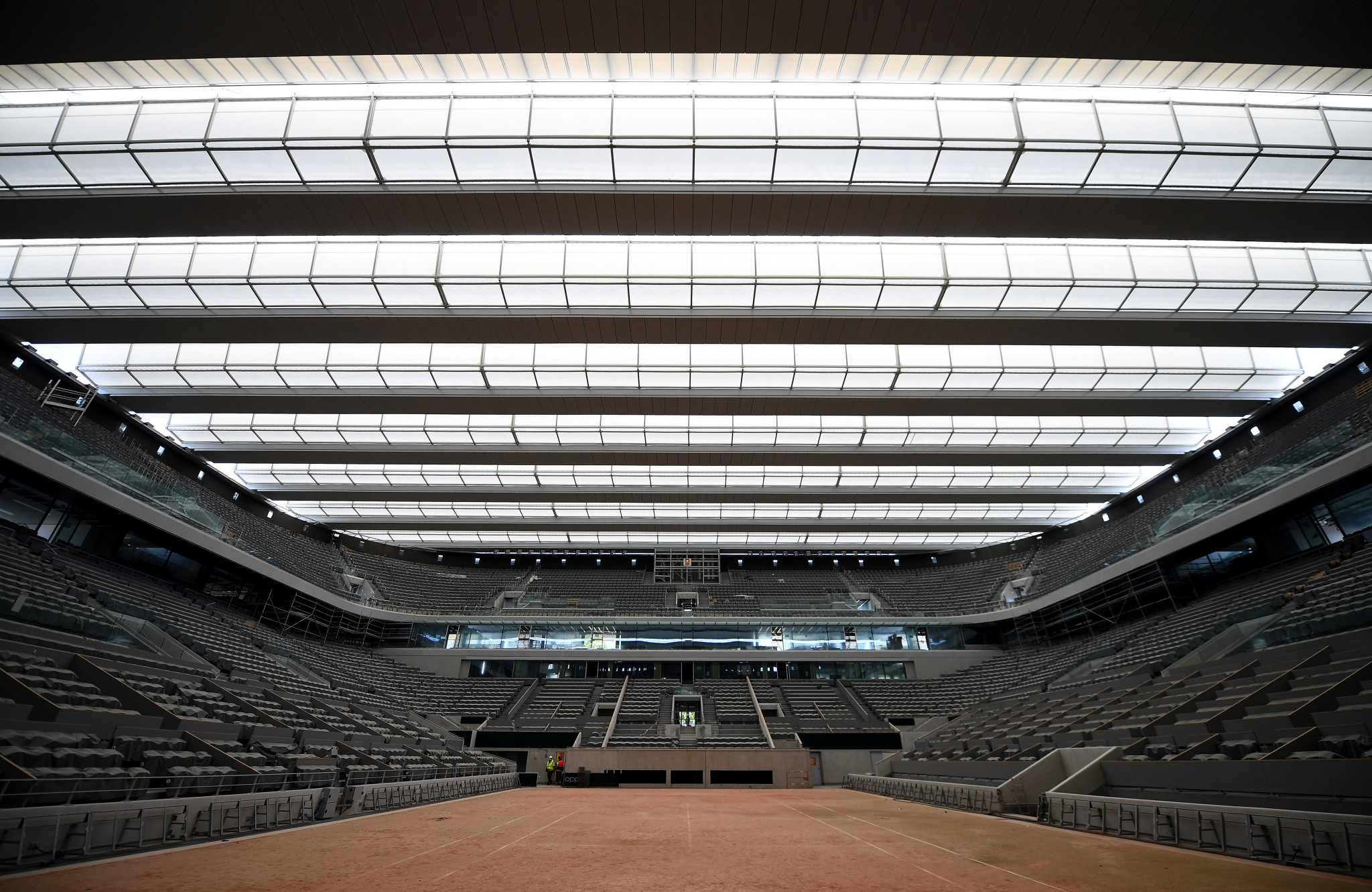 Groups of four will be permitted on show courts, with gaps in between ©Getty Images