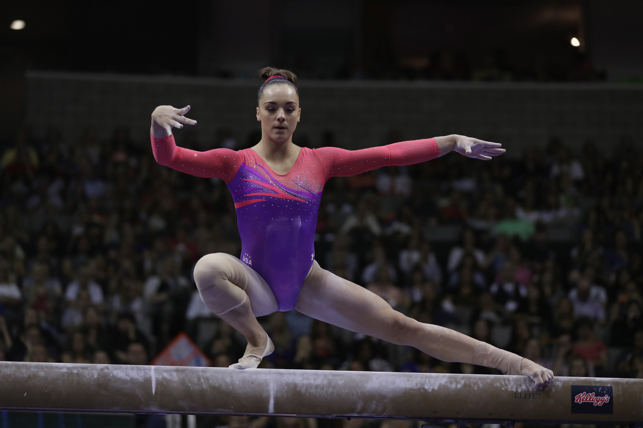 First-hand accounts from gymnasts such as Maggie Nichols helped Athlete A tell the important story of widespread sexual abuse in USA Gymnastics ©Getty Images
