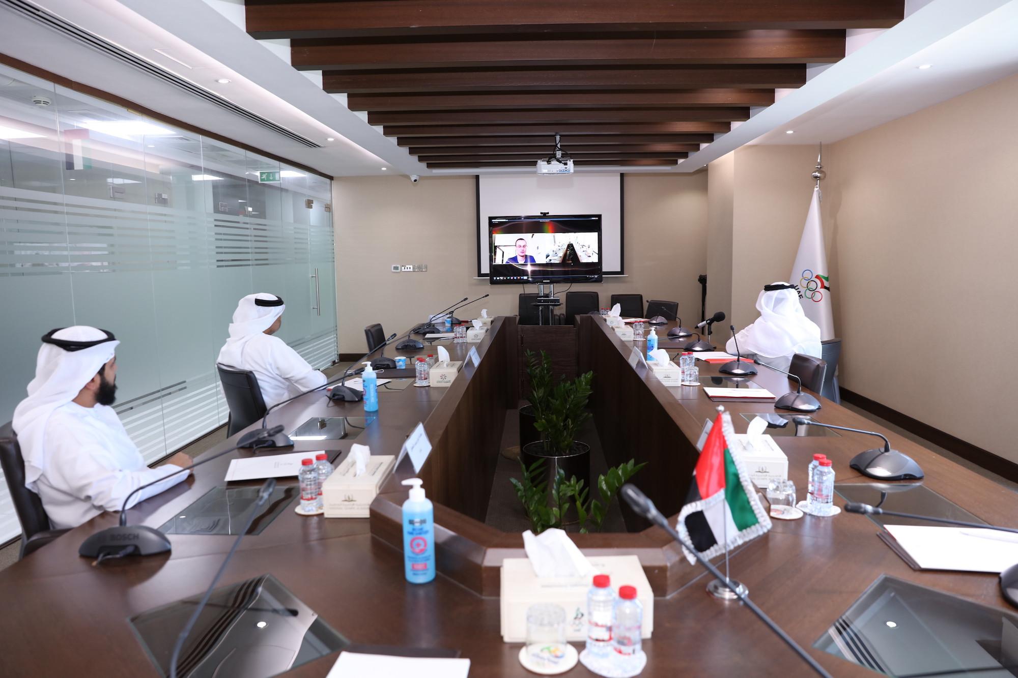 The UAE NOC held a virtual meeting with organisers of Tokyo 2020 ©UAE NOC
