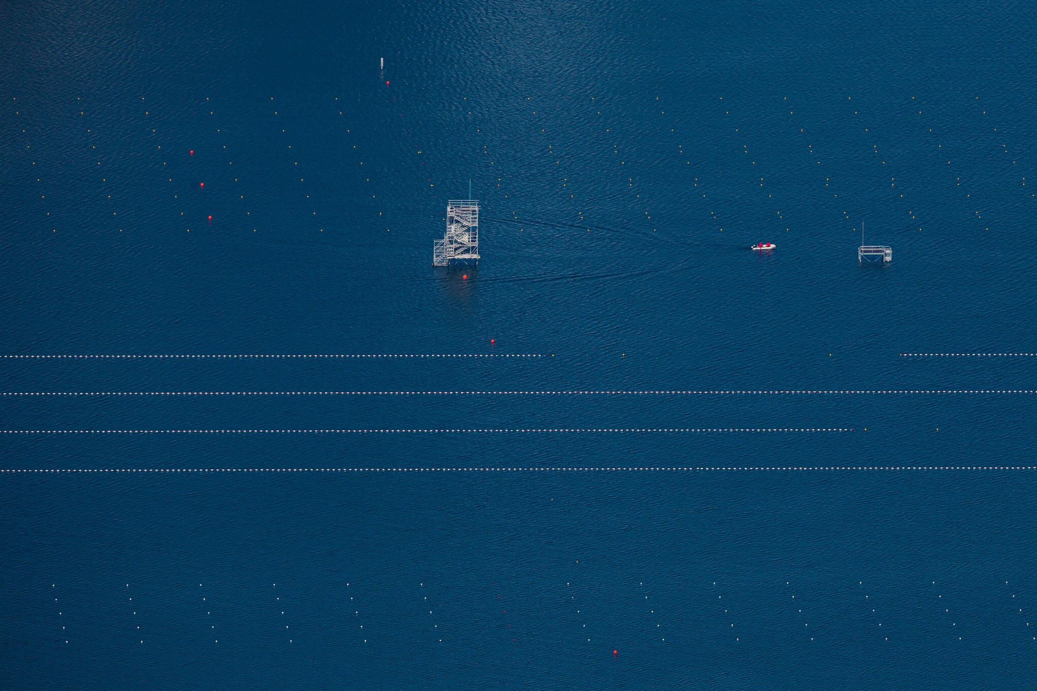Rowing lanes at Rodrigo de Freitas before the Rio 2016 Olympics ©Getty Images