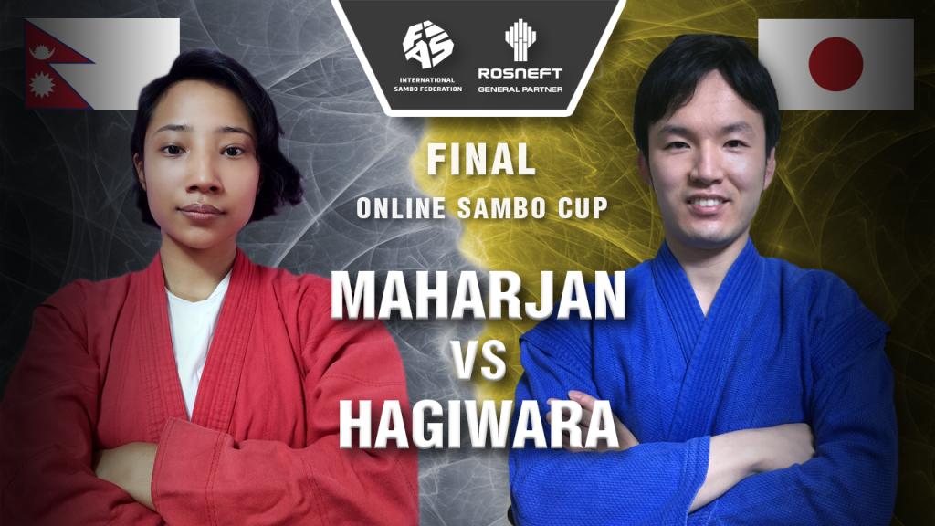 Hagiwara triumphant in Asian leg of sambo's online tournament