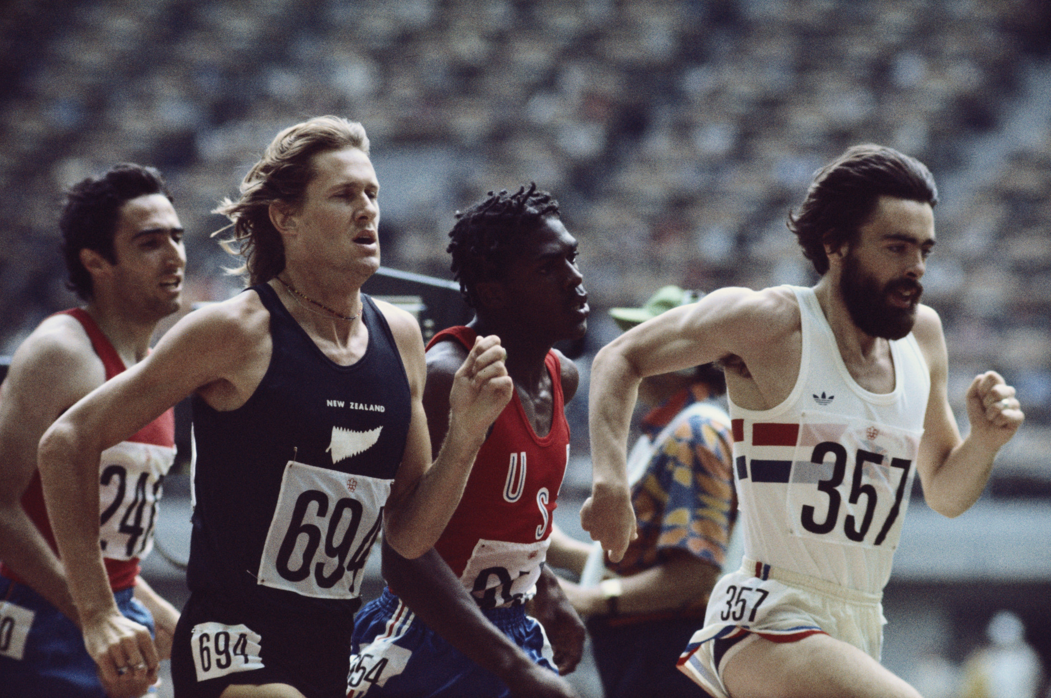 Sir John Walker won the men's 1500m title at the Montreal 1976 Olympic Games ©Getty Images