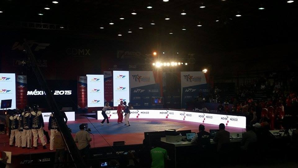WTF branding was prominent around the mat at this month's World Taekwondo Grand Prix Finals in Mexico City ©WTF