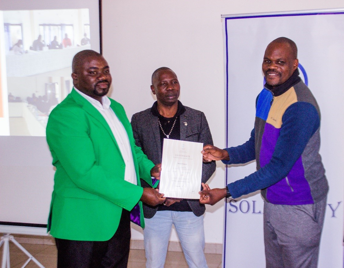 Zambian NOC hold sport administration course for country's basketball federation