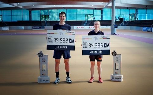 German inline skaters record first-ever hour world records