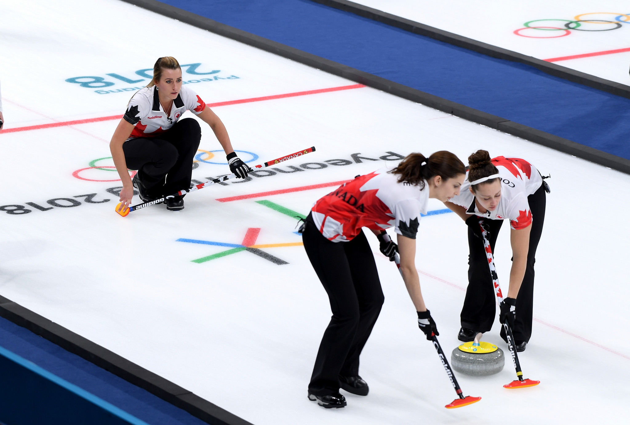 Curling Canada has proposed the use of only one sweeper ©Getty Images