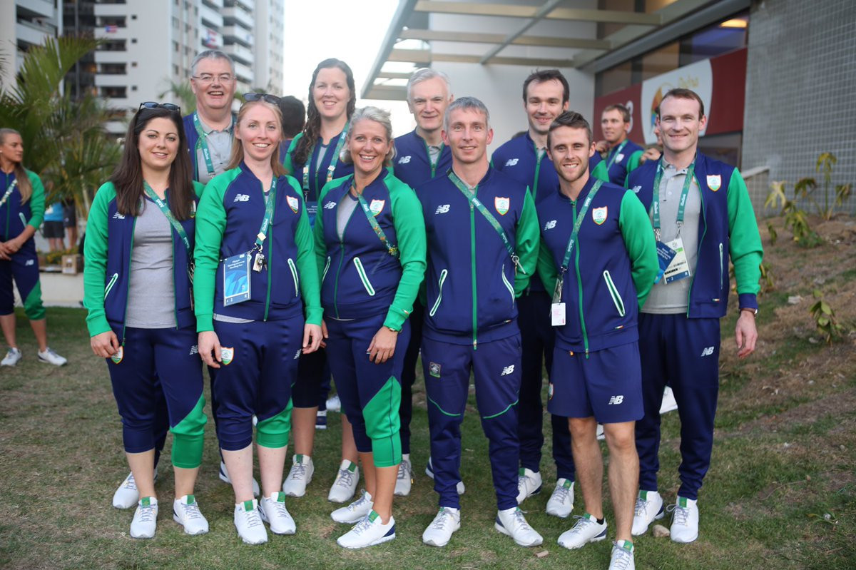 Julianne Ryan, far left, worked with Ireland's boxing team at Rio 2016 ©Twitter