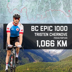 Paralympic champion Chernove aims for record in 1,000km endurance ride for charity