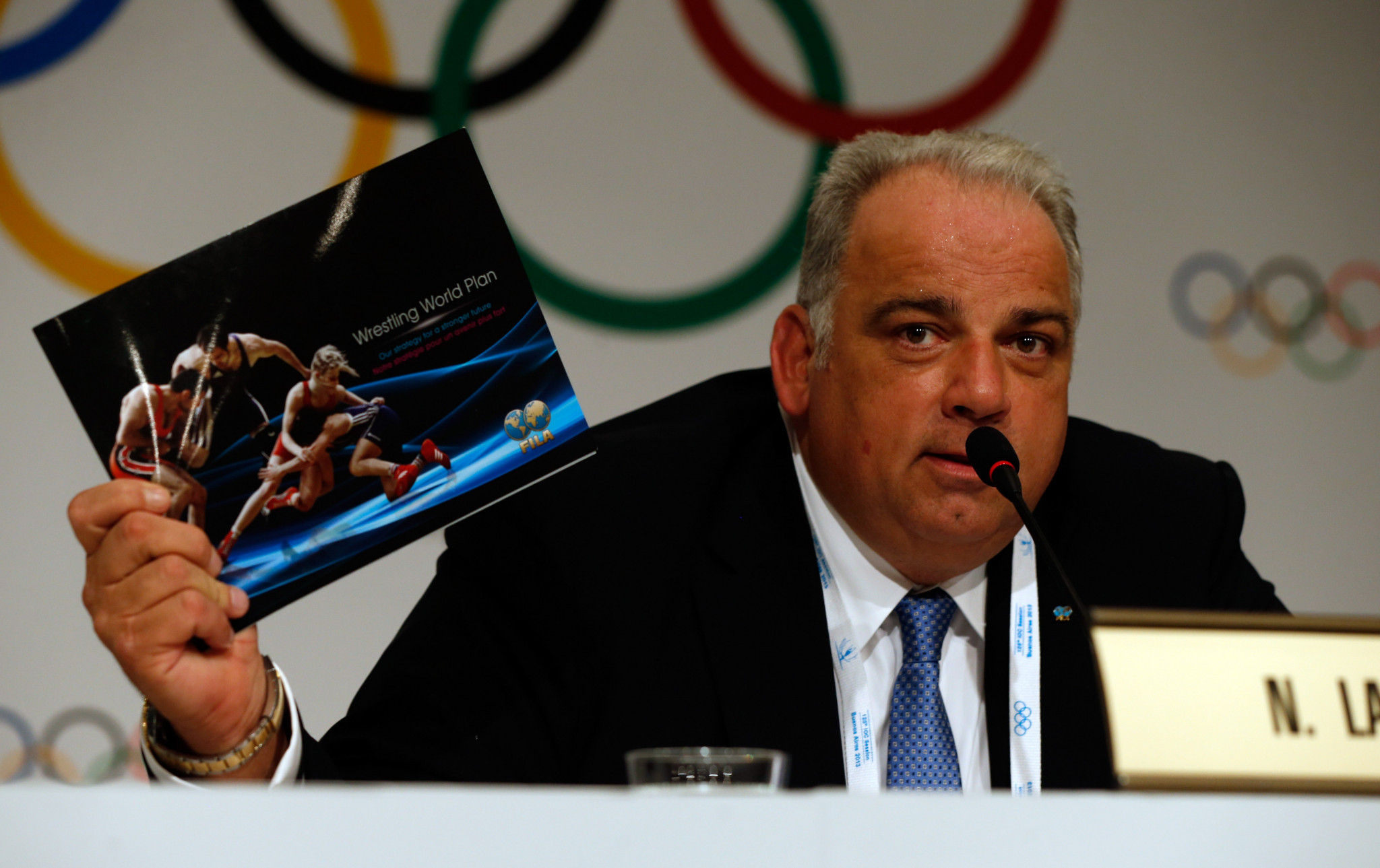 Nenad Lalovic oversaw wrestling's reinstatement to the Olympic programme in 2014 and has since taken on important roles within the IOC ©Getty Images