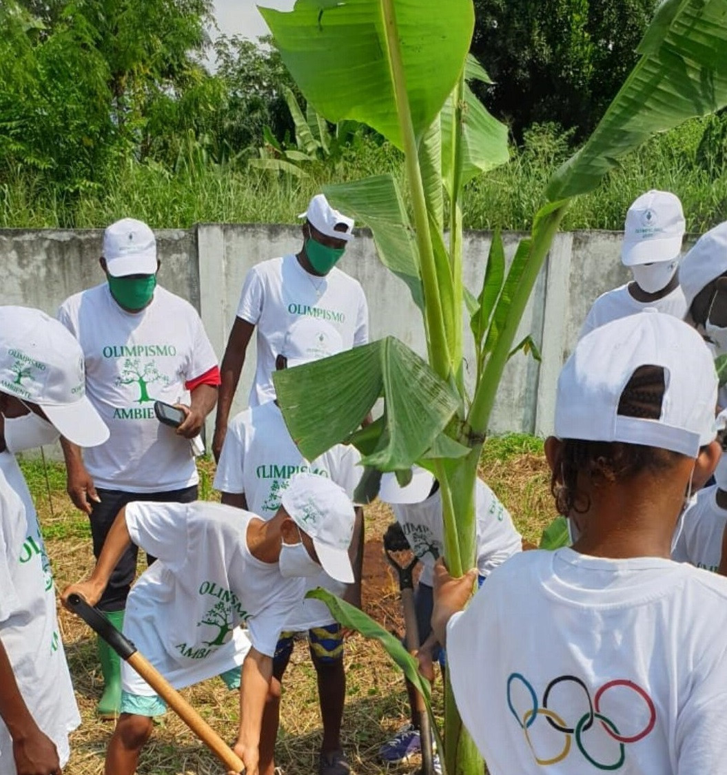 Fruit trees were planted to mark Olympic Day in São Tomé and Príncipe ©COSTP