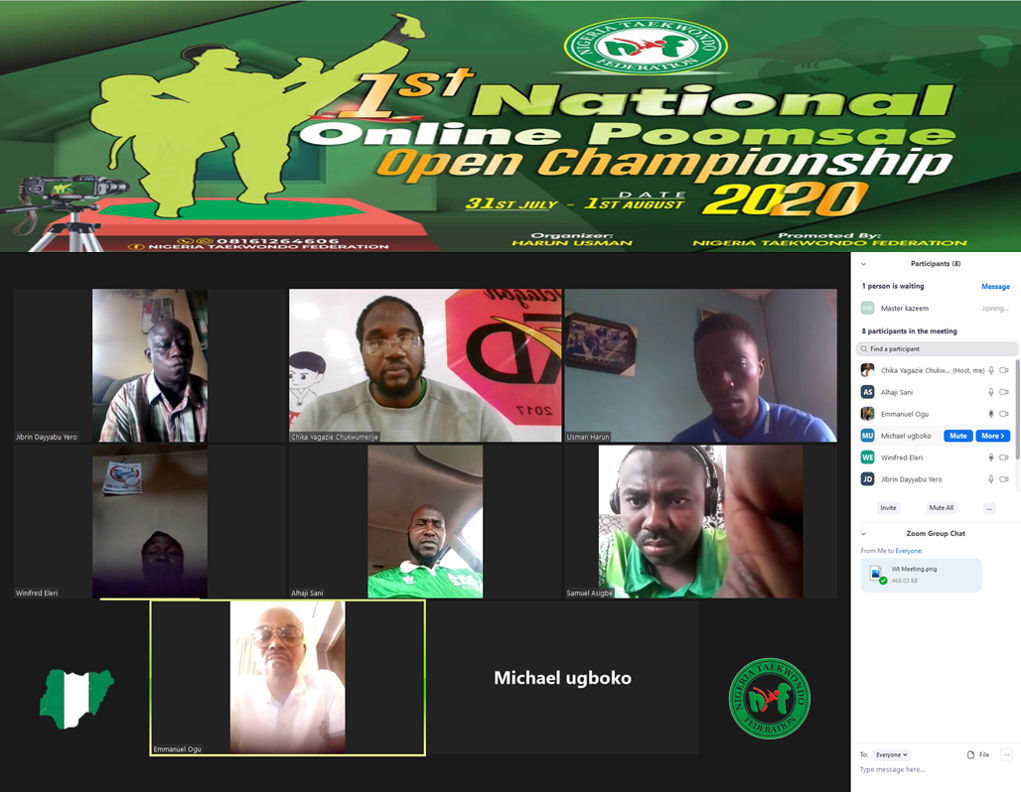 An online meeting was held to discuss preparations for the tournament ©NTF