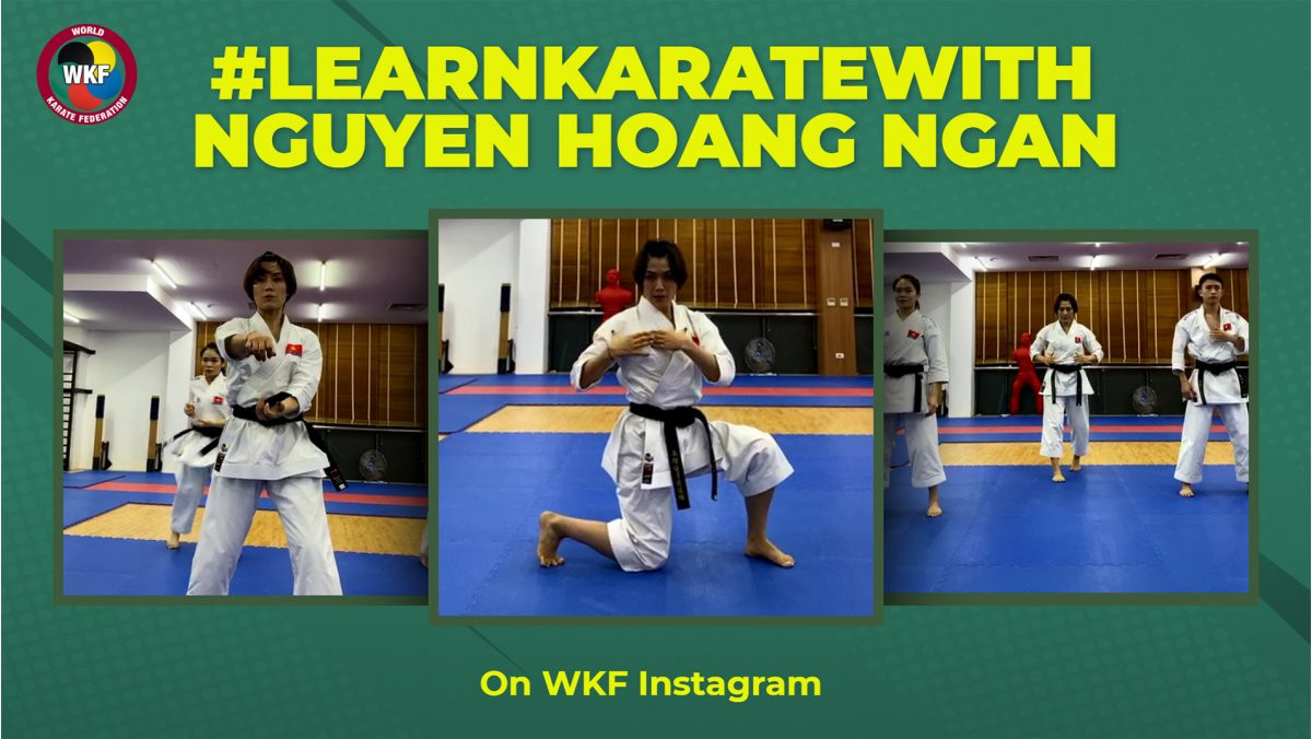 Vietnam's Nguyen Hoang Ngan hosted the third session of the #LearnKarateWith initiative ©WKF