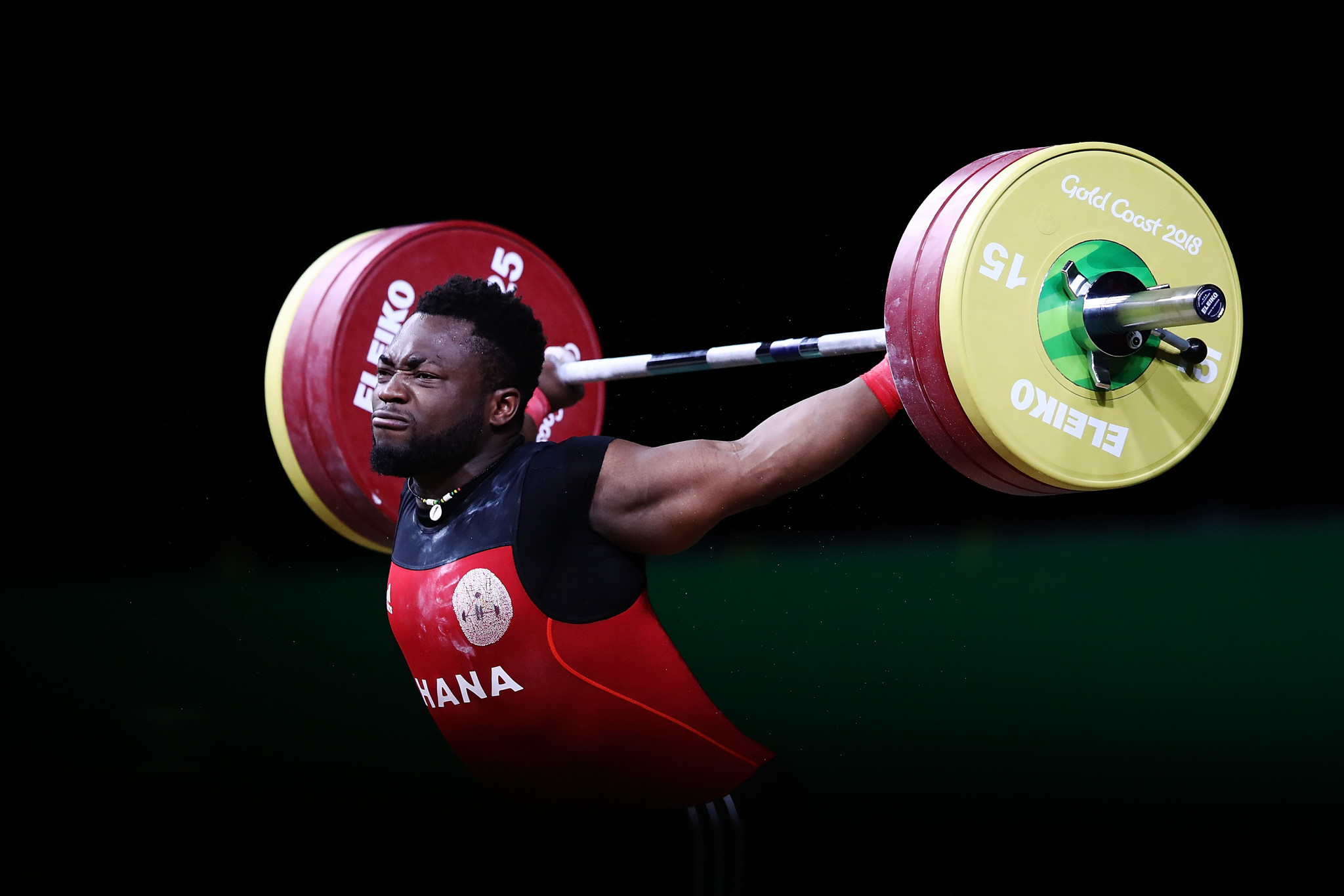 Forrester Osei is among the Ghanaian weightlifters to resume training ©Getty Images