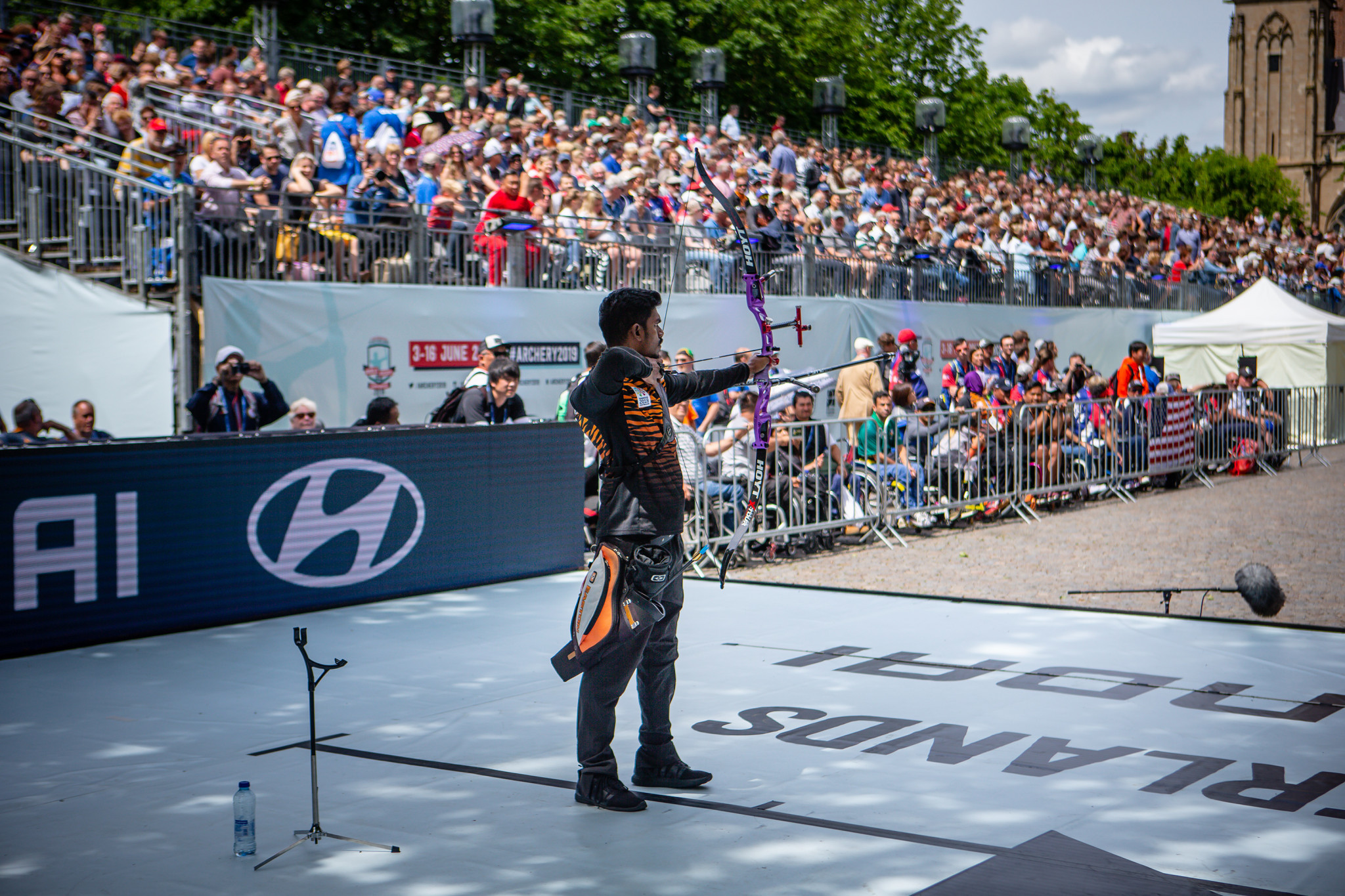 Suresh Selvathamby triumphed in the men's recurve at the World Archery Para Championships in 's-Hertogenbosch ©Getty Images