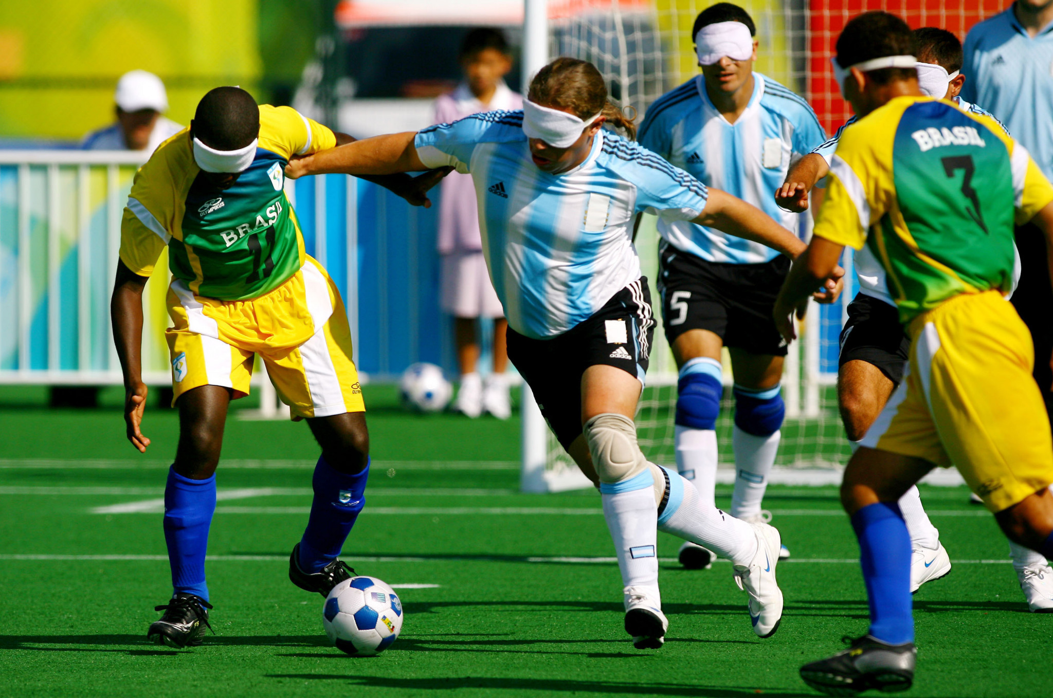 Two-time world champion Cerega becomes blind football coach