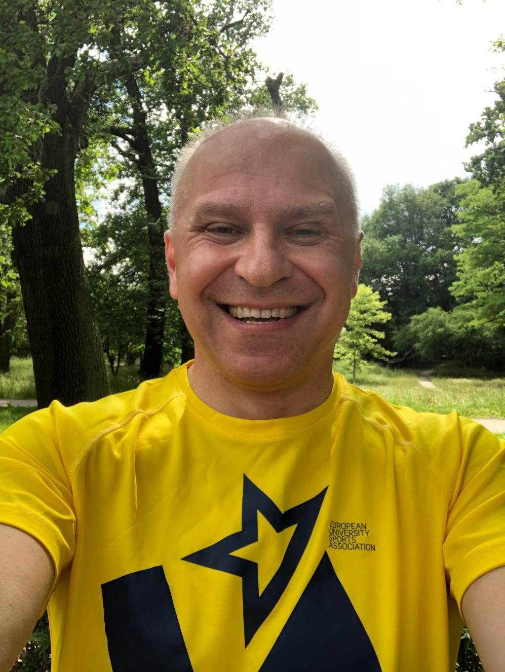 EUSA President Adam Roczek was among the participants in the race ©EUSA