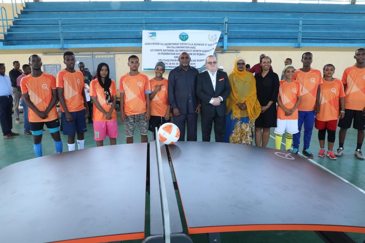 Djibouti Teqball Federation bids to obtain more than 50 tables