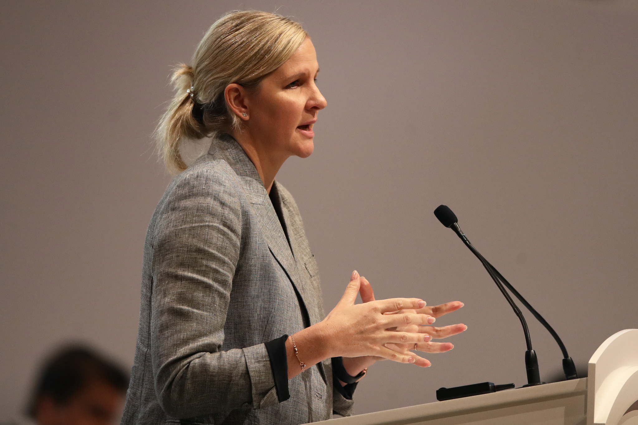 Kirsty Coventry provided an update on preparations for the Summer Youth Olympic Games in Dakar, now taking place in 2026 ©Getty Images