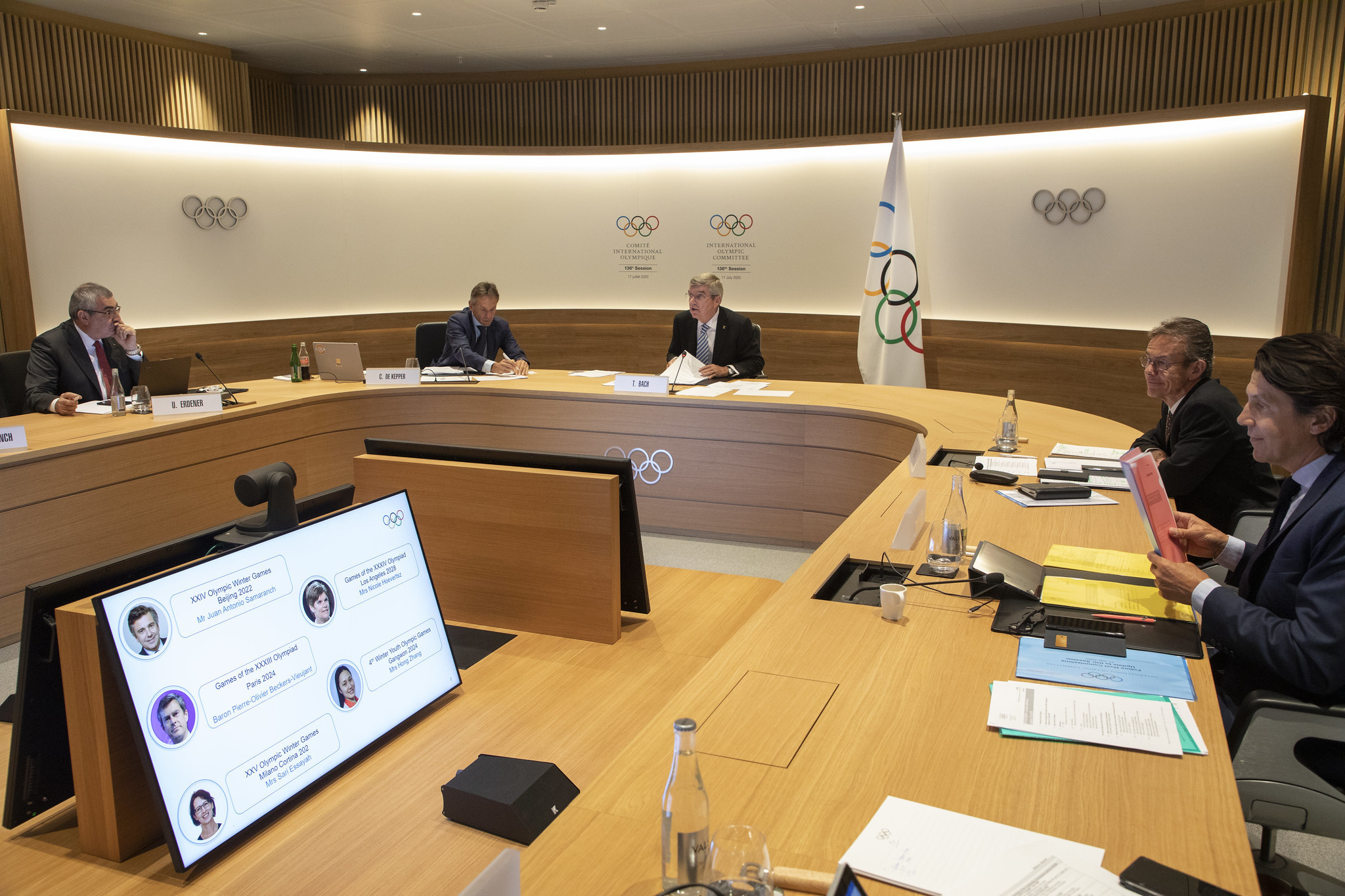 Thomas Bach confirmed he would seek re-election during the IOC's first virtual Session ©IOC