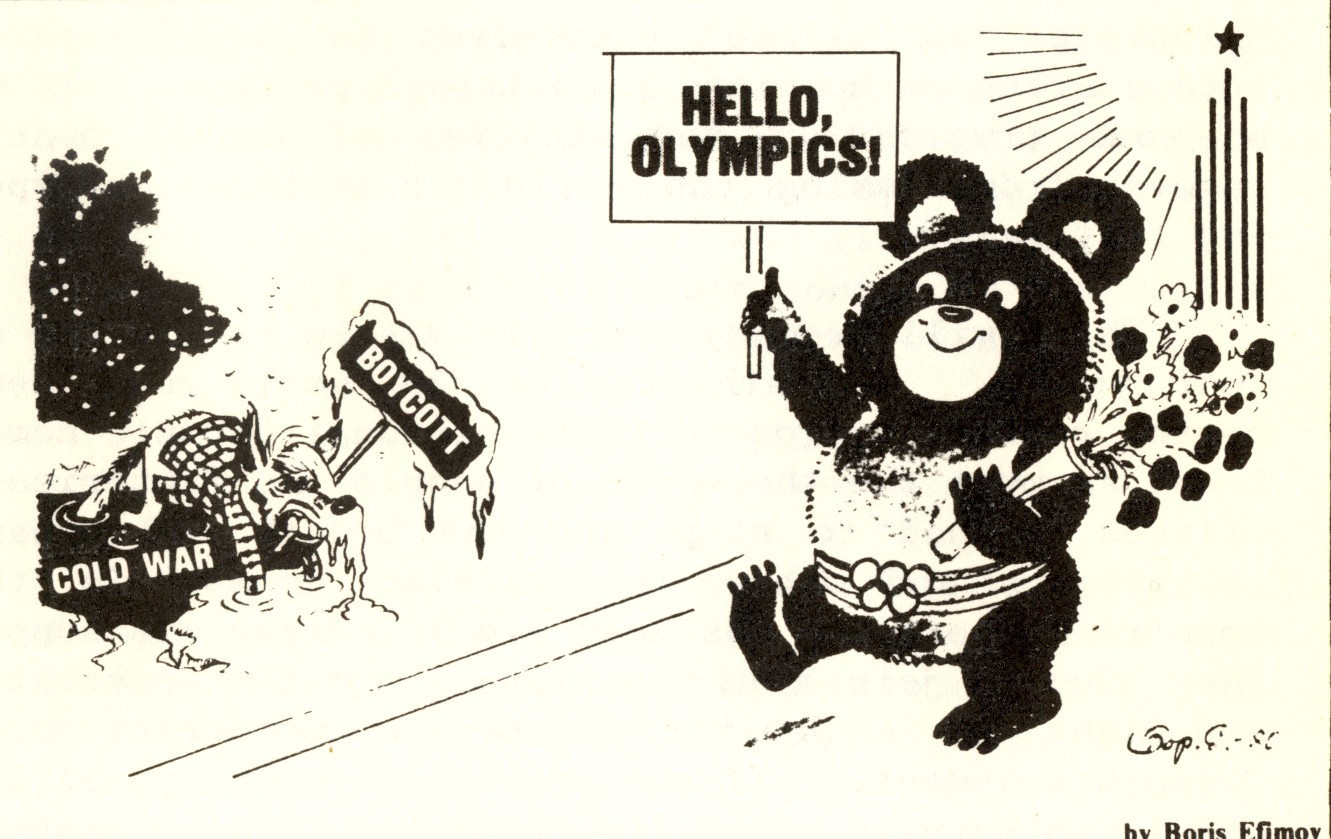 A cartoon about the Olympics which appeared in Soviet Weekly ©Boris Efimov