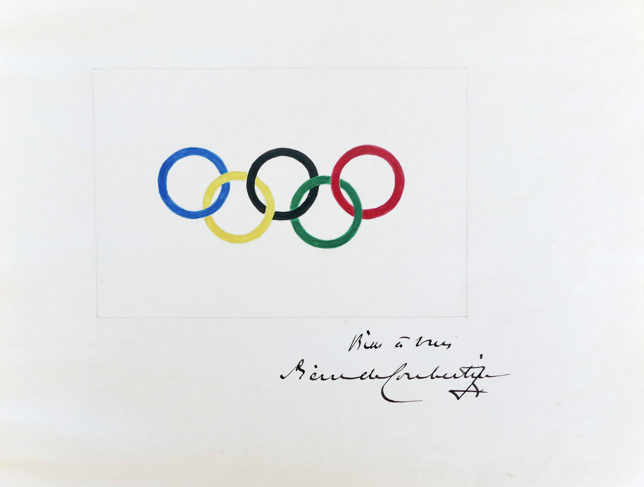 Original Coubertin drawing of Olympic rings sells for €185,000 at auction