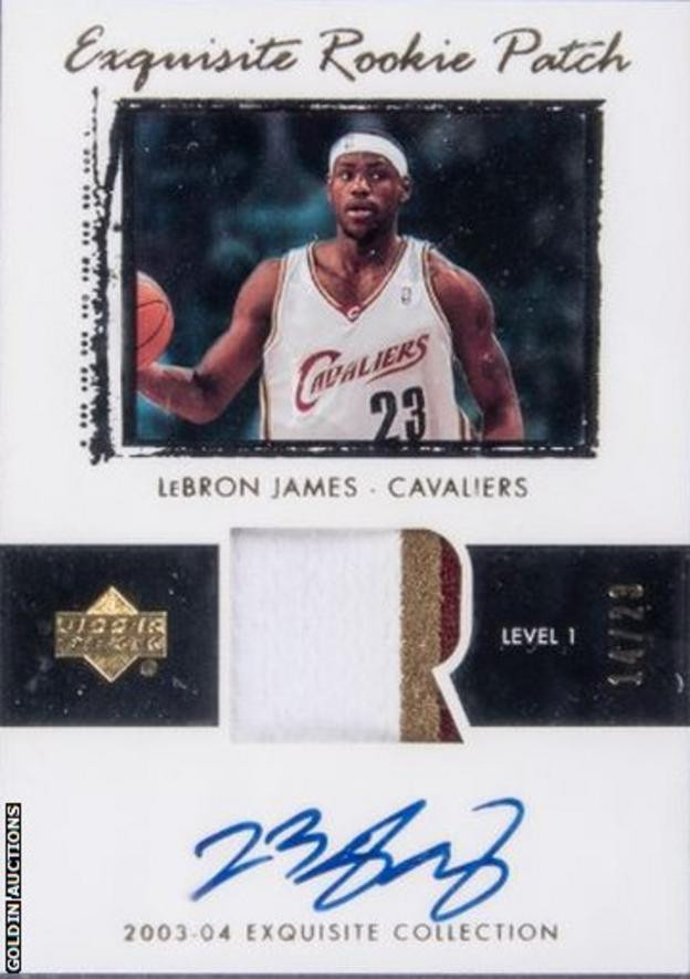 LeBron James trading card sells for record $1.8 million