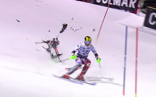 FIS ban use of camera drones following Hirscher's narrow escape from crash
