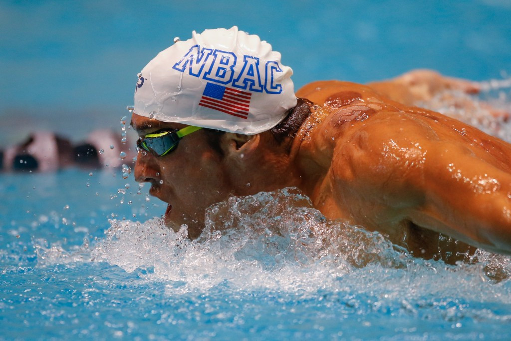 Michael Phelps, the 18-time Olympic gold medallist, will be wearing a new brand if he qualifies for Rio 2016 ©Getty Images