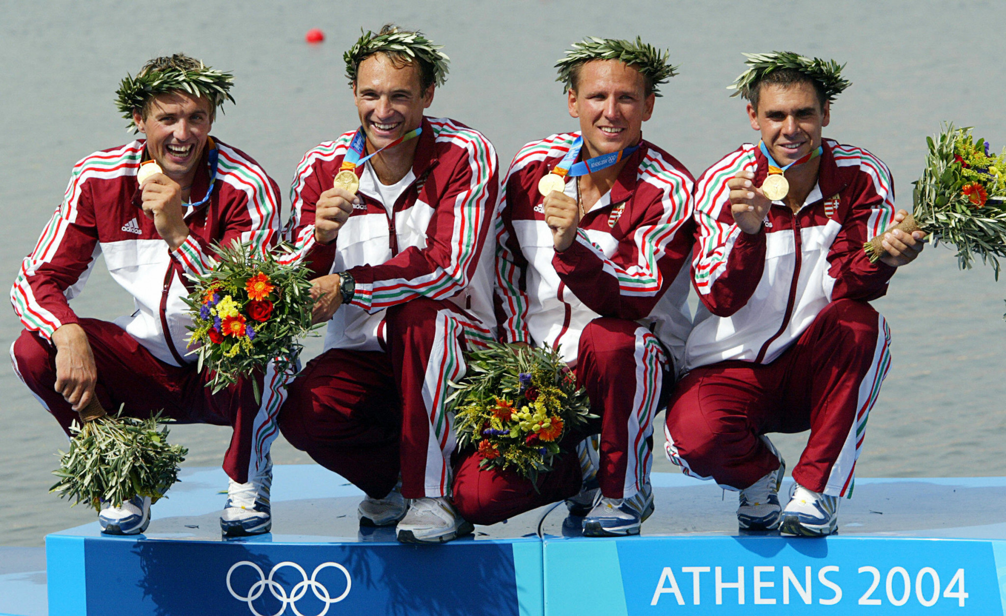 Gábor Horváth, left, is a two-time Olympic champion in sprint canoeing ©Getty Images