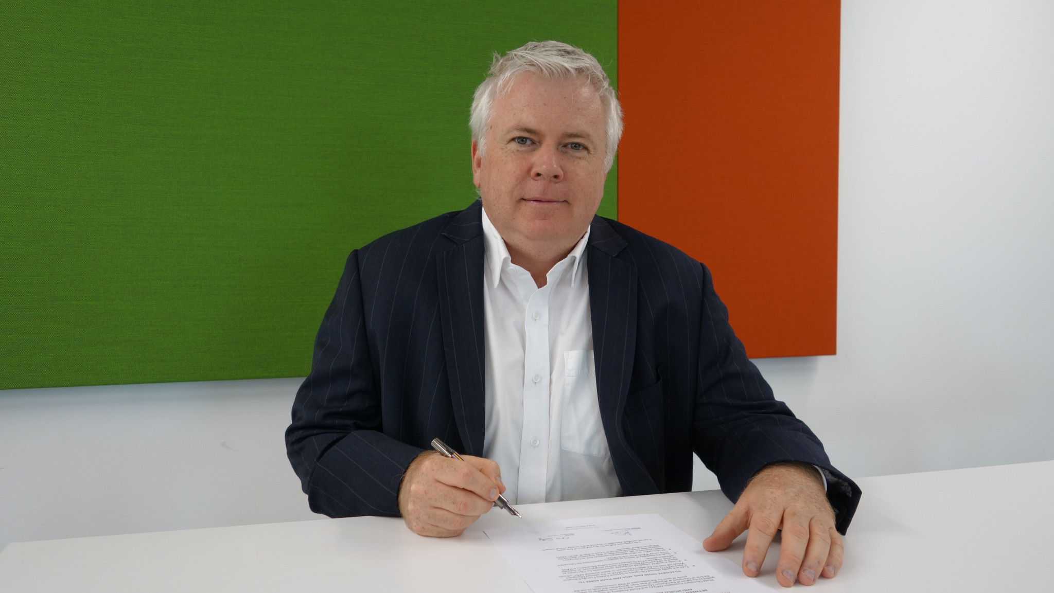 WAoS managing director Chris Solly signed the MoU in Lausanne today ©WAoS