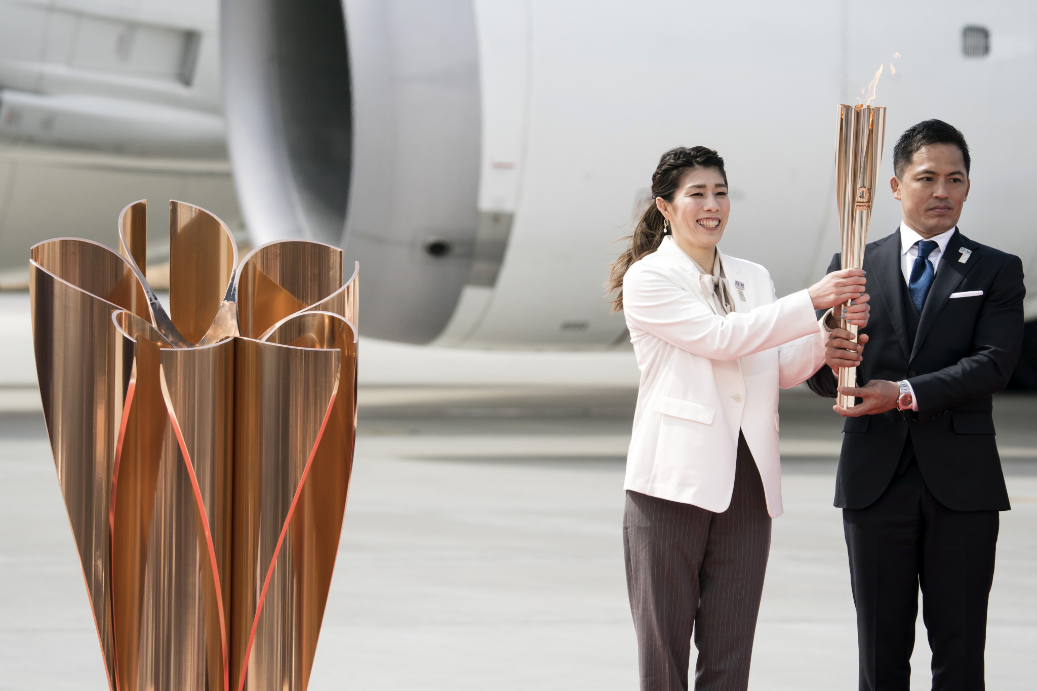 The Olympic Flame arrived in Japan earlier this year ©Getty Images