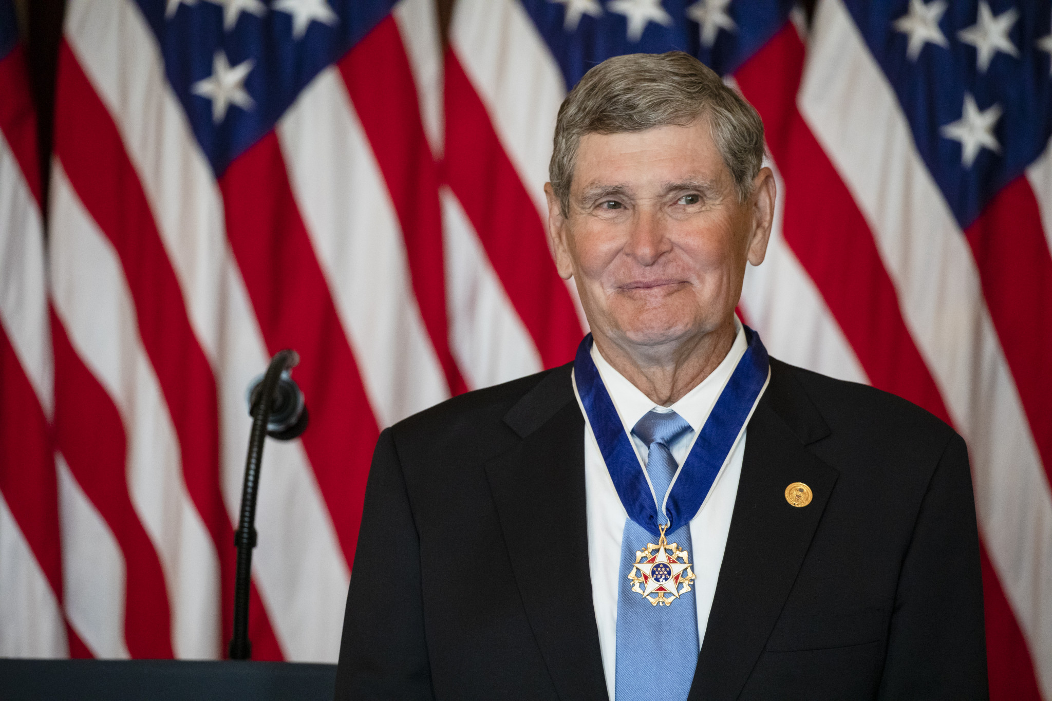Jim Ryun is the second sportsman to receive the United States Presidential Medal of Freedom ©Getty Images