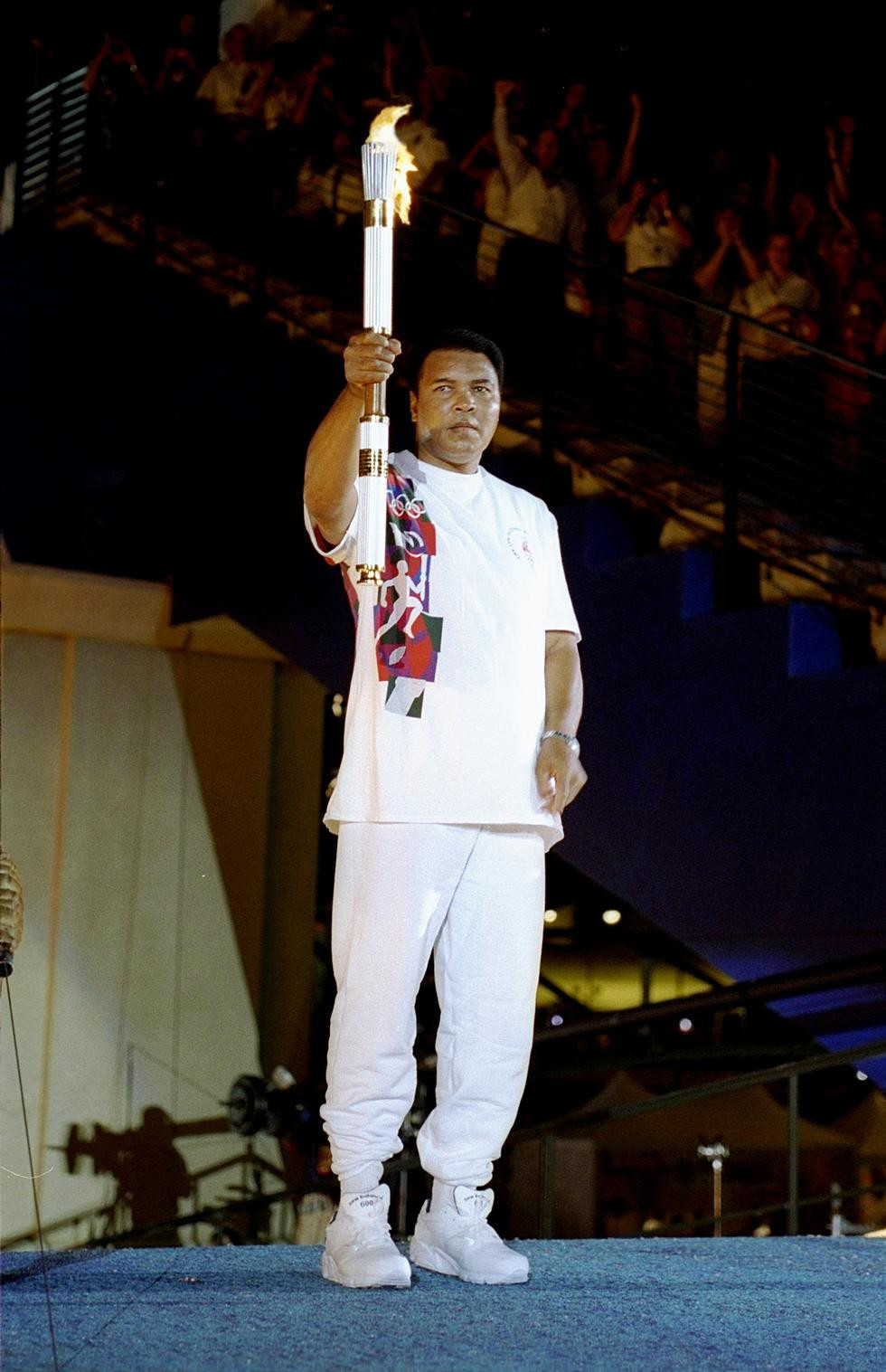 Muhammad Ali lighting the Olympic Cauldron at Atlanta 1996 remains one of the Games' most iconic moments ©Getty Images