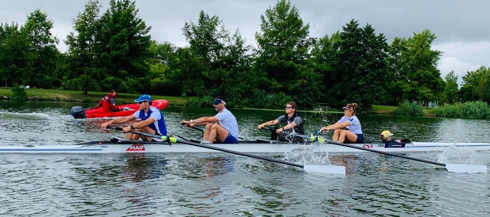 French Para-rowers return to on-water training