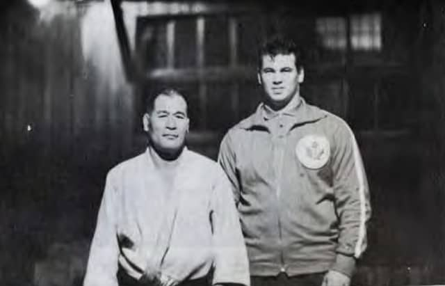 Doug Rogers, right, has died at the age of 79 ©Judo Canada