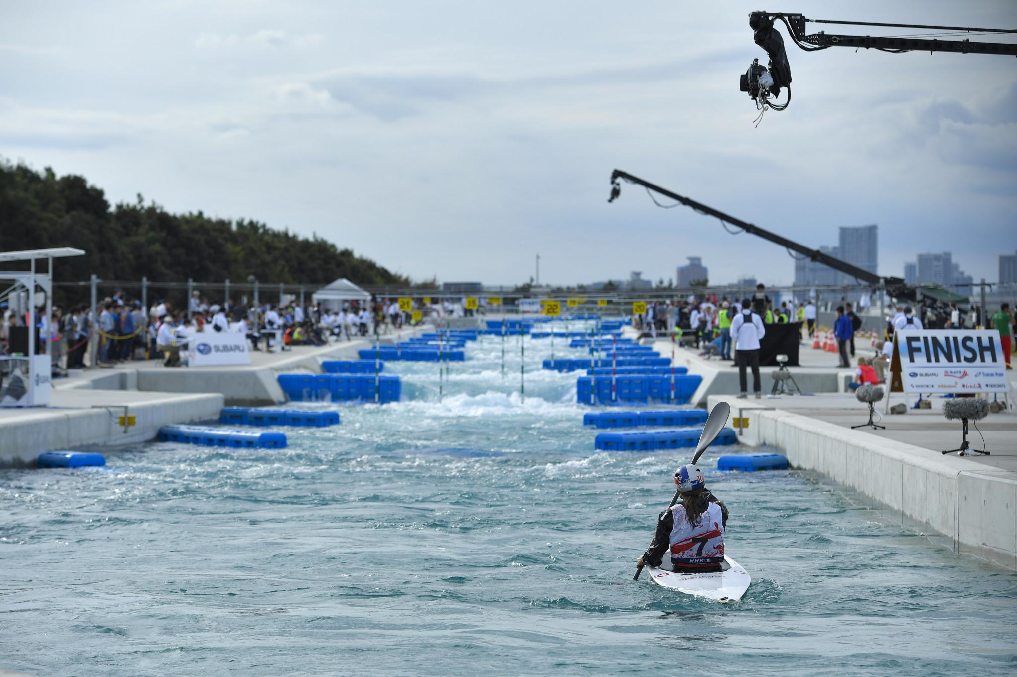 Tokyo 2020 canoe slalom venue opens for athlete practice
