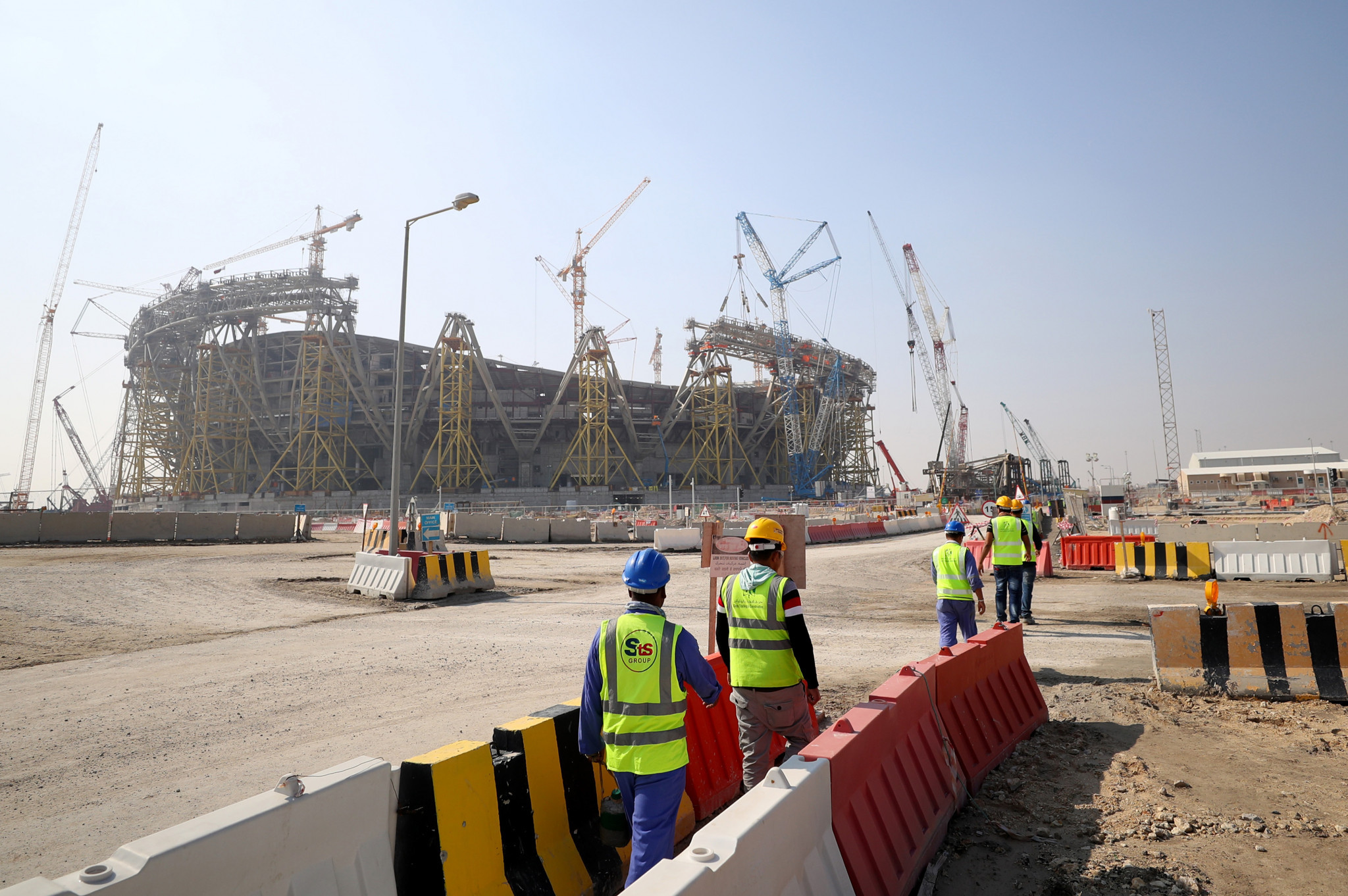 Qatar has faced criticism over migrants' rights at construction sites for the 2022 FIFA World Cup ©Getty Images