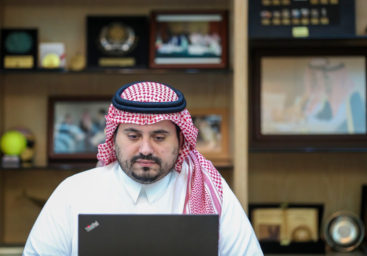 Saudi Arabian Olympic Committee welcome guests from ITF and FIBA for virtual conference