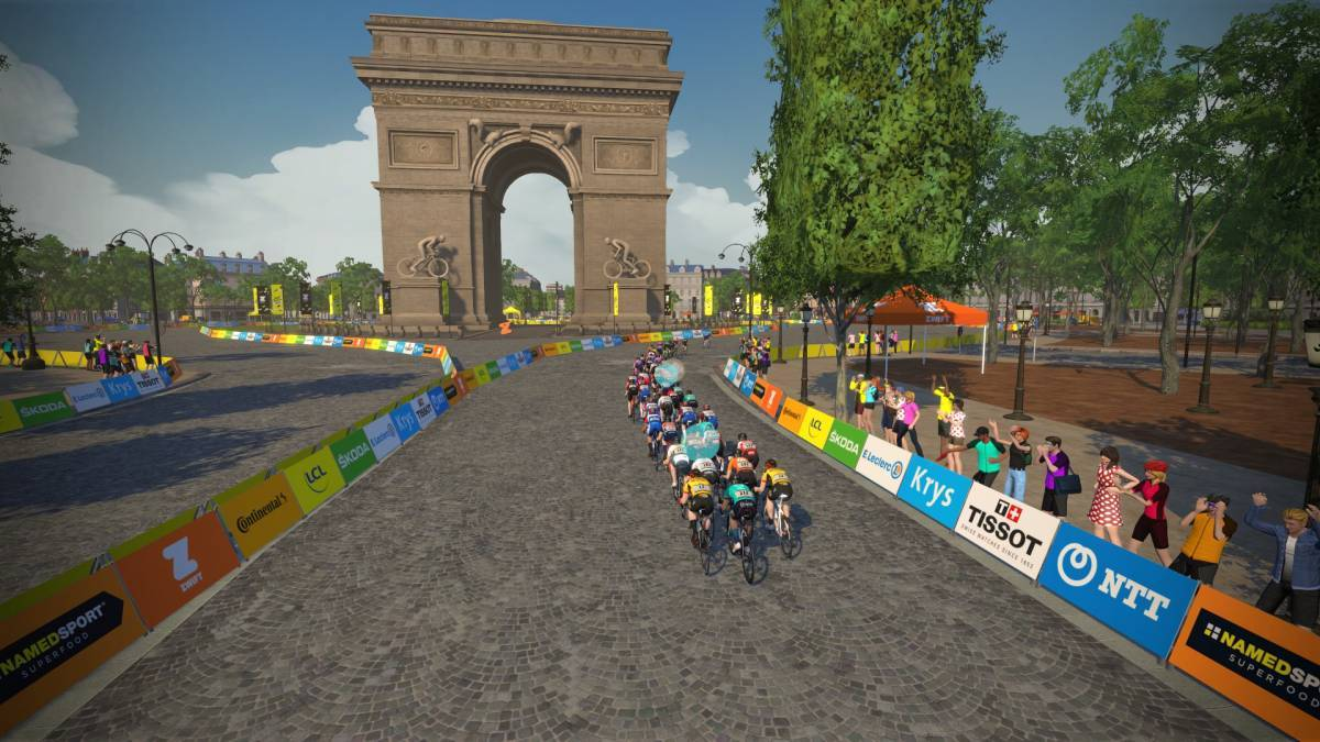 Virtual Tour de France concludes with Champs-Élysées sprints