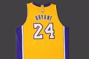 Kobe Bryant's jersey has been sold for $22,000 at an auction ©NBA Auctions