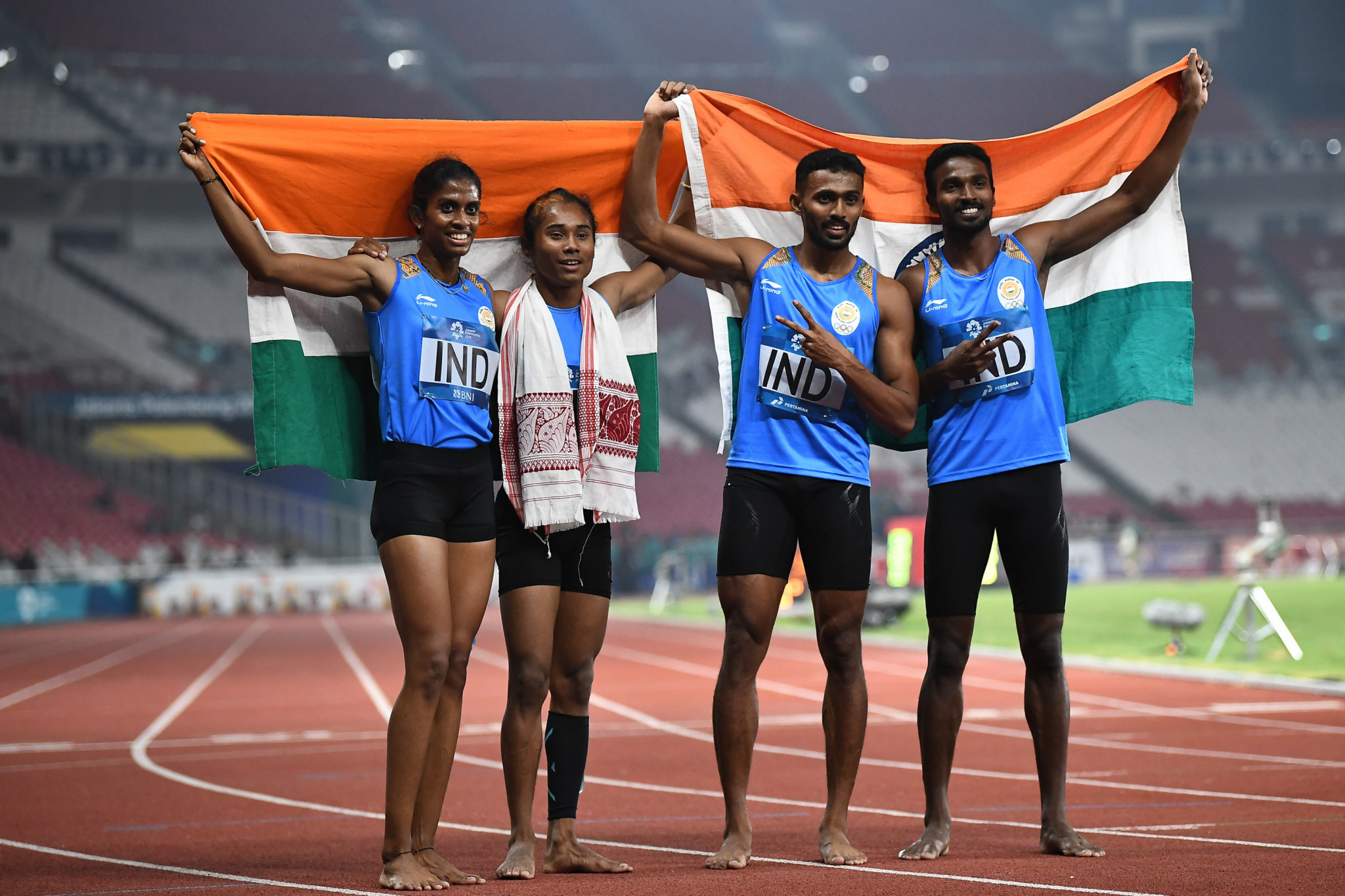 India upgraded to 2018 Asian Games 4x400m mixed relay gold after Bahraini doping ban